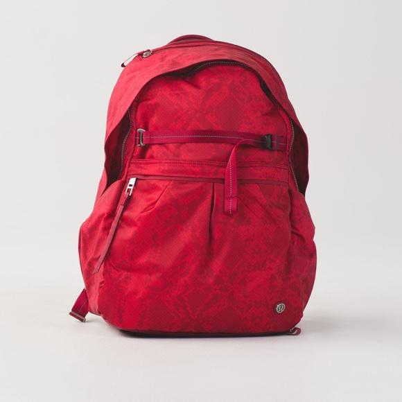 Lululemon Red Pack It Up Backpack